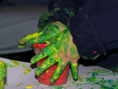 fun filled finger painting