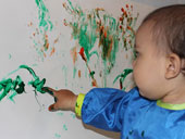 toddler finger painting