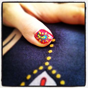 fingernail painting