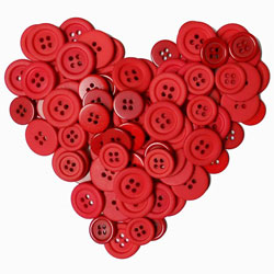 heart shaped buttons
