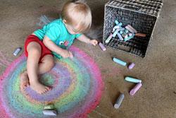 inside chalk drawing