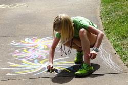 creative sidewalk art