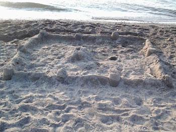 sand castle kids summertime craft